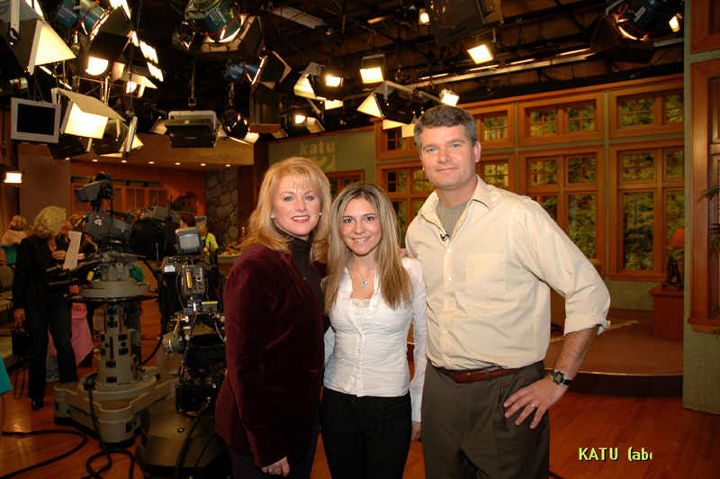Ruslana with the hosts of the morning show